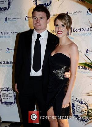 Brian O'Driscoll, Amy Huberman,  at the Bord Gais Energy Irish Book Awards 2010 held at The Mansion House -...