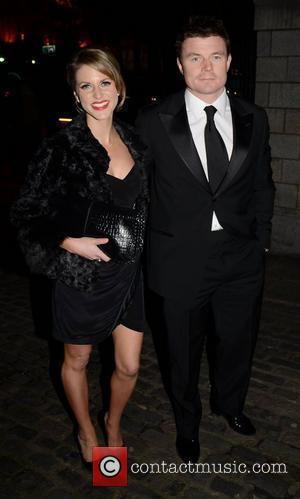Brian O'Driscoll, Amy Huberman,  at the Bord Gais Energy Irish Book Awards 2010 held at The Mansion House -...