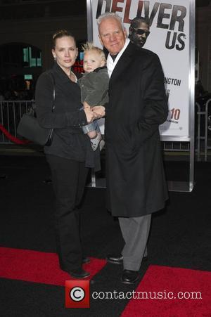 Malcolm McDowell with wife Kelley McDowell and son Seamus Hudson McDowell Los Angeles Premiere of 'The Book Of Eli' held...
