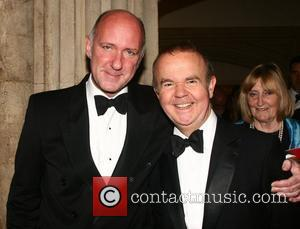 Guest and Ian Hislop attends the 2010 Man Booker Prize dinner at Guildhall  London, England - 12.10.10