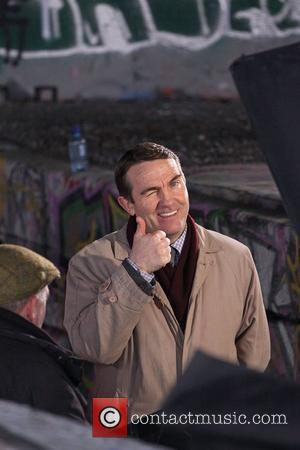 Bradley Walsh  filming on location on the Southbank London, England - 24.03.10