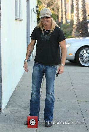 Bret Michaels visits a recording studio in Santa Monica Los Angeles, California - 23.01.10