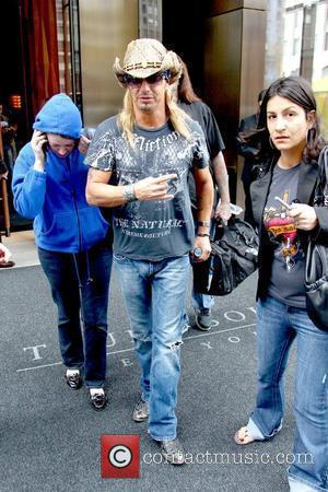 Bret Michaels the winner of NBC's 'Celebrity Apprentice' leaving his hotel to appear on 'Today' New York City, USA -...