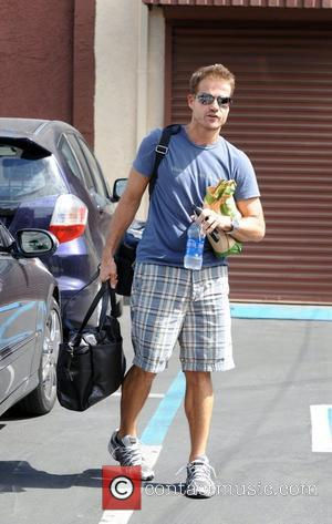 Louis van Amstel takes a break from dance rehearsals for ABC-TV's 'Dancing with the Stars'  Los Angeles, California -...