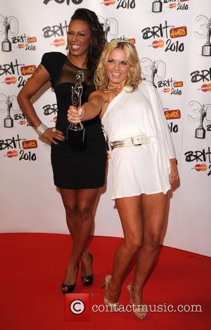 Geri Halliwell and Melanie Brown, aka Mel B, of the Spice Girls  The BRIT Awards 2010 - 30th Anniversary...