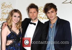 Emma Roberts, Christopher Bailey and Douglas Booth