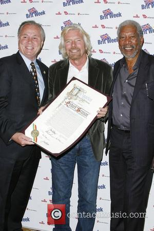 Tom Labonge, Morgan Freeman and Richard Branson