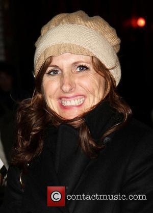 Molly Shannon signing autographs outside the Broadway Theatre after appearing in Promises, Promises New York City, USA - 17.11.10