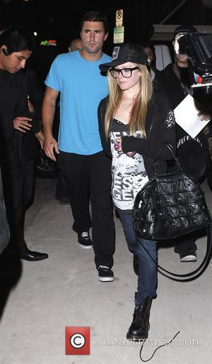 Avril Lavigne and Brody Jenner Leaving Las Palmas