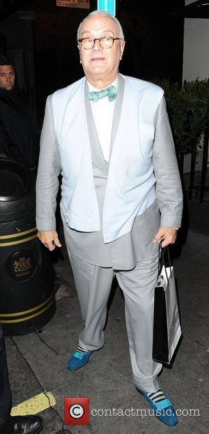 Manolo Blahnik,  at Bryan Ferry's album launch, 'Olympia' at the Dean Street Townhouse. London, England - 19.10.10