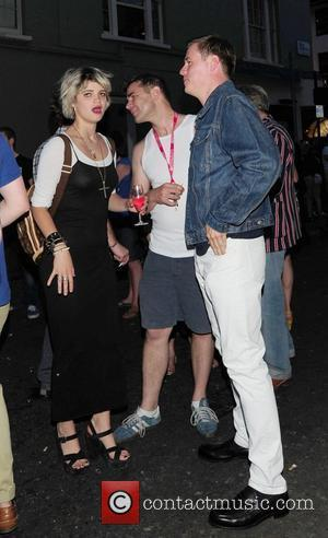 Pixie Geldof and Guest at the launch party for Comedian Noel Fielding's art exhibition - Bryan Ferry Versus The Jelly...