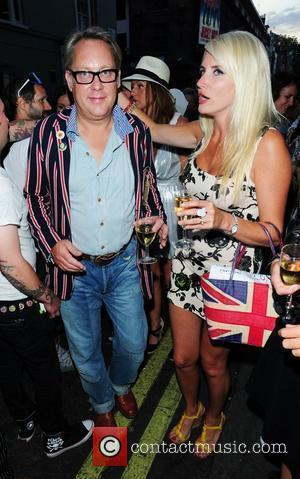 Vic Reeves and his wife Nancy Sorrell at the launch party for Comedian Noel Fielding's art exhibition - Bryan Ferry...