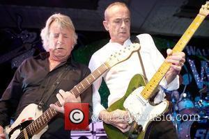 Rick Parfitt and Francis Rossi of Status Quo performing The Bunbury Charity Cricket Dinner held at the Gorsvenor Hotel London,...
