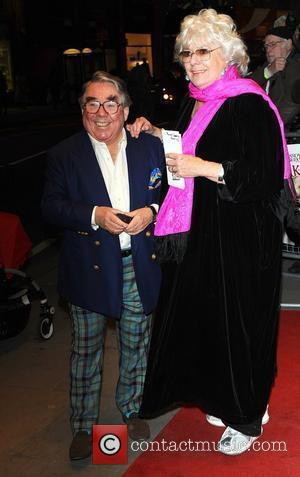 Ronnie Corbett and Anne Hart  World premiere of 'Burke and Hare' at the Chelsea Cinema - Arrivals London, England...