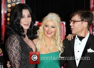 Peter Gallagher, Christina Aguilera and Steven Antin