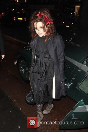 Helena Bonham-Carter  Switches on the Burlington Arcade Christmas lights. London, England - 18.11.10