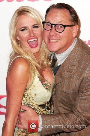 Nancy Sorrell & Vic Reeves,  attends The Sun's new magazine 'Buzz' launch at Il Bottacio London, England - 15.09.10