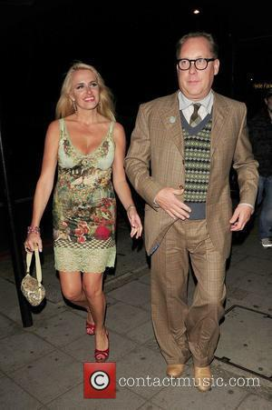 Nancy Sorrell and Vic Reeves The Sun's new magazine 'Buzz' launch at Il Bottacio _ Departures London, England - 15.09.10