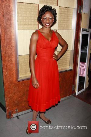 Montego Glover in costume from the Broadway musical production 'Memphis' Backstage at 'Broadway On Broadway', the annual free outdoor concert...
