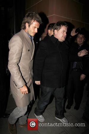 David Beckham and James Corden