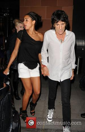 Ronnie Wood and Girlfriend Ana Araujo