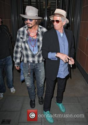 Johnny Depp, Keith Richards and Leaves