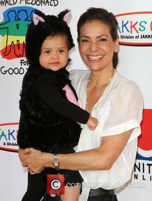 Constance Marie and daughter Luna Marie 18th Annual Camp Ronald McDonald For Good Times Halloween Carnival held at Universal Studios...