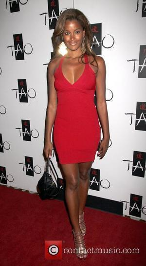 Claudia Jordan arrive for the Celebrity Poker Tournament kick off party at the Tao Nightclub in the Venetian Resort Hotel...