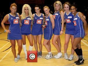 Rhian Sugden, Girlband PhaceBook The Celebrity 7 Netball tournament at the Brentwood Leisure Centre in Essex, UK on March 21...