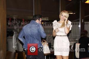 Antony Costa and Liz McClarnon celebrities at Aquum Bar in Clapham London England - 13.01.11