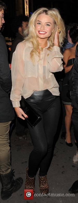Emma Rigby arrives at Cafe de Paris nightclub. London, England - 24.10.10