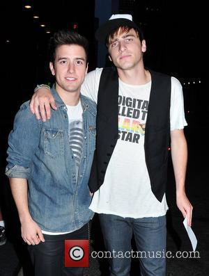 Logan Henderson and Kendall Schmidt of 'Big Time Rush' arrive at their midtown hotel New York City, USA - 11.08.10