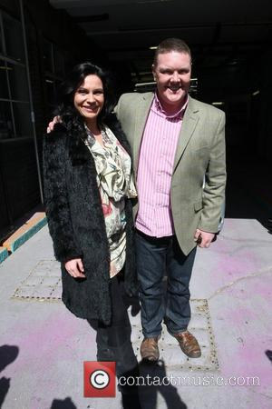 Lucy Pargeter and Dominic Brunt  outside the ITV studios London, England - 21.04.10