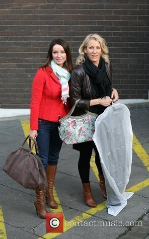 Keren Woodward and Sara Dallin Celebrities outside the ITV television studios. London, England - 08.04.10