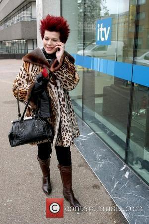 Cleo Rocos leaving the ITV studios London, England - 08.02.10