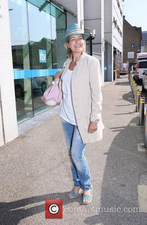 Penny Smith leaving the ITV studios London, England - 27.04.10