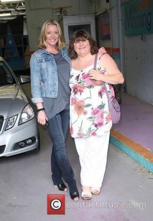 Laurie Brett and Cheryl Fergison leaving the ITV studios London, England - 04.05.10