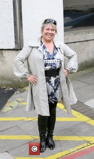 Tina Malone Celebrities outside the ITV television studios. London, England - 04.05.10