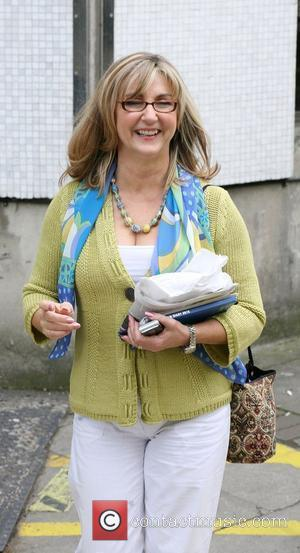 Lesley Garrett Celebrities outside the ITV television studios. London, England - 27.04.10
