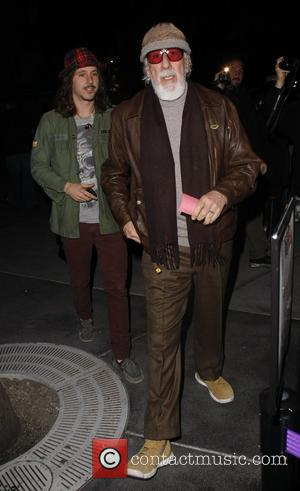 Cisco Adler and Lou Adler  arrive at the Lakers game at the Staples Centre Los Angeles, California, USA -...