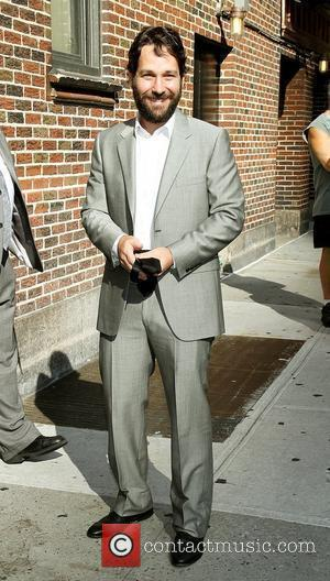 Actor Paul Rudd and David Letterman