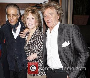 Jane Fonda and Rod Stewart