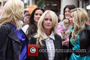 Kim Richards filming an interview for the entertainment television news programme 'Extra' at The Grove in Hollywood  Los Angeles,...