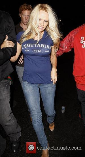 Pamela Anderson leaving the Premiere Club  Los Angeles, California, USA - 31.10.10