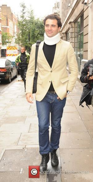 Darius Campbell aka Darius Danesh arrives at the Radio 2 studios wearing a neck brace. The Scottish singer was the...
