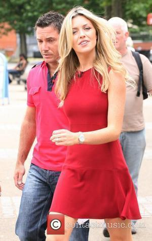 Gino D'Acampo and Abbey Clancy filming 'This Morning' on the South bank outside the ITV studios London, England - 03.08.10