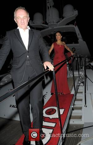 Salma Hayek and Francois Pinault Leave A Private Party On A Yacht