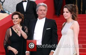 Alain Delon, Anouchka Delon and Claudia Cardinale