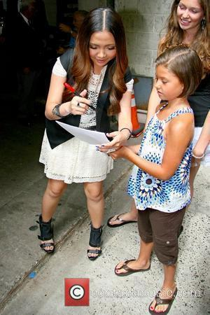Charice aka Charice Pempengco greets fans outside ABC studios before appearing on 'Live with Regis and Kelly' New York City,...