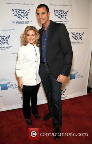 Cat Cora and Nigel Barker